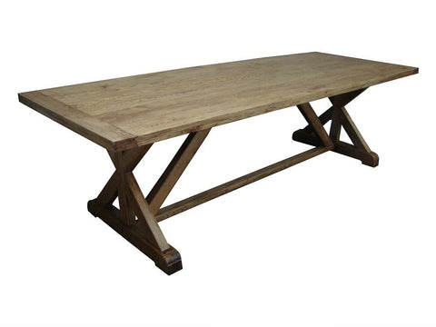 "French style ""X"" end dining table"