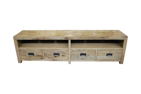 European oak tv unit large
