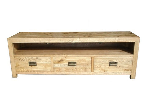 European oak tv unit medium