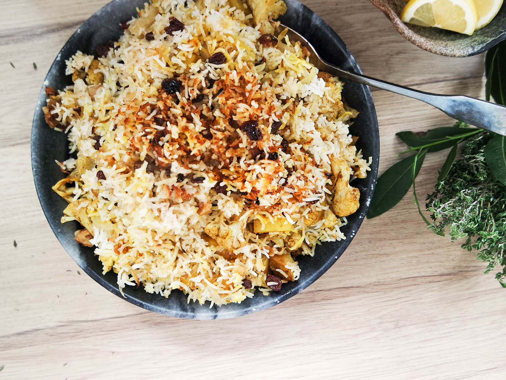 indiangoodsco_blog_recipes_easy indian food_weeknight dinner_special rice dish_ biryani_cauliflower_potato_fragrant_simple_vegan_glutenfree_vegetarian_1