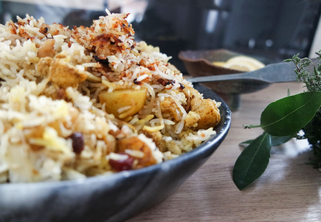 indiangoodsco_blog_recipes_easy indian food_weeknight dinner_special rice dish_ biryani_cauliflower_potato_fragrant_simple_vegan_glutenfree_vegetarian_10