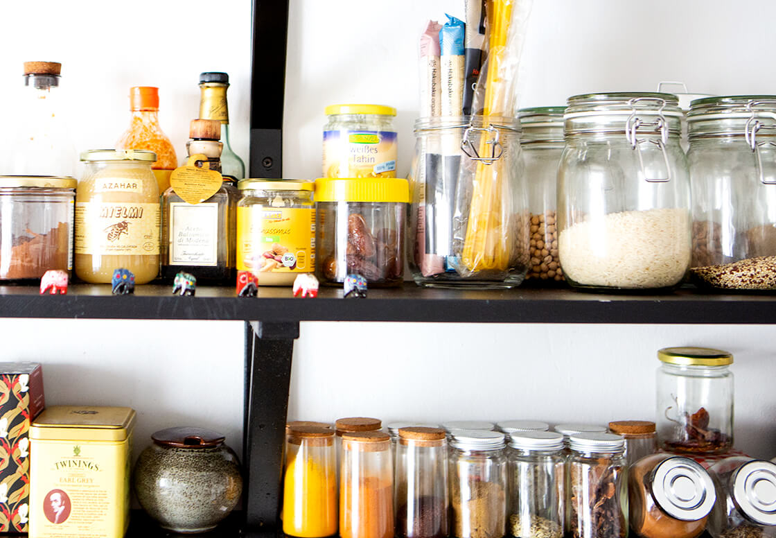 indiangoodsco_blog article_ten_things_welcoming_spring_pantry glass mason jars spices herbs legumes
