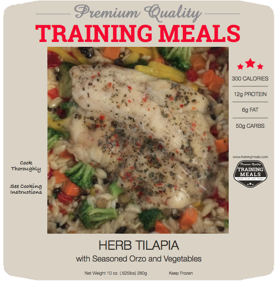 Herb Tilapia with Seasoned Orzo and Vegetables