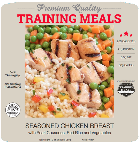 Seasoned Chicken Breast with Pearl Couscous and Vegetables