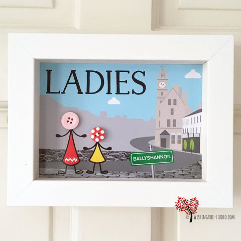 Bathroom Door Sign - Ladies