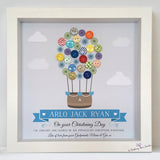 Hot Air Balloon print for Christening, christening gift