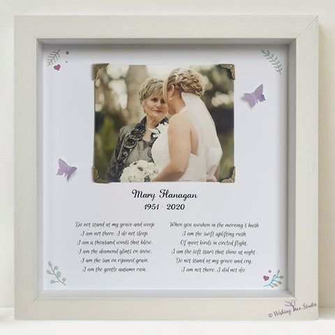 Bereavement photo and poem frame