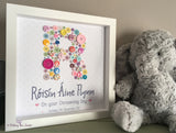 Christening Button print
