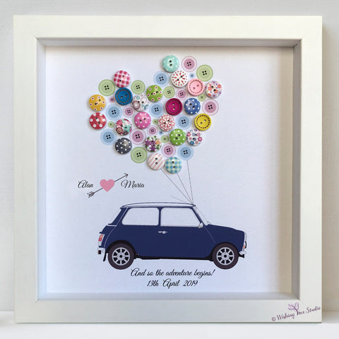 Mini car wedding frame