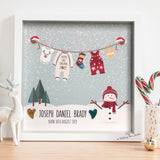 Baby's first Christmas personalised frame