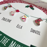 personalised Family Christmas stocking frame