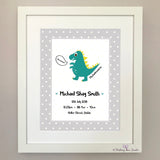 Dinosaur print for new baby (green)