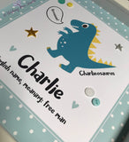 Dinosaur Name meaning print detail