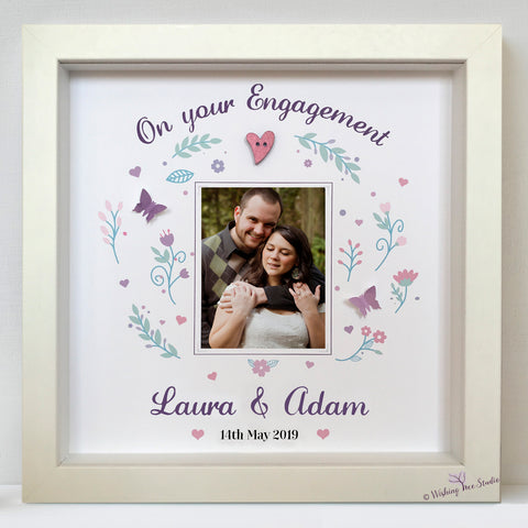 Engagement photo frame