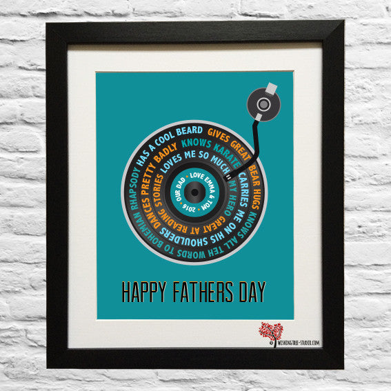 Vinyl Record Fathers Day framed print
