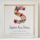 Floral Letter frame for Christening