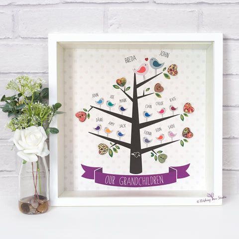 Grandparents and grandchildren Tree print