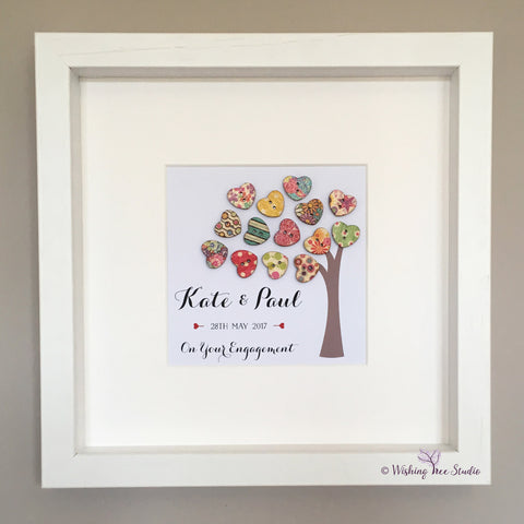 Button Hearts Tree print