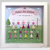 Hen party button head frame