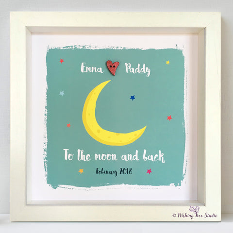 Moon and back button frame