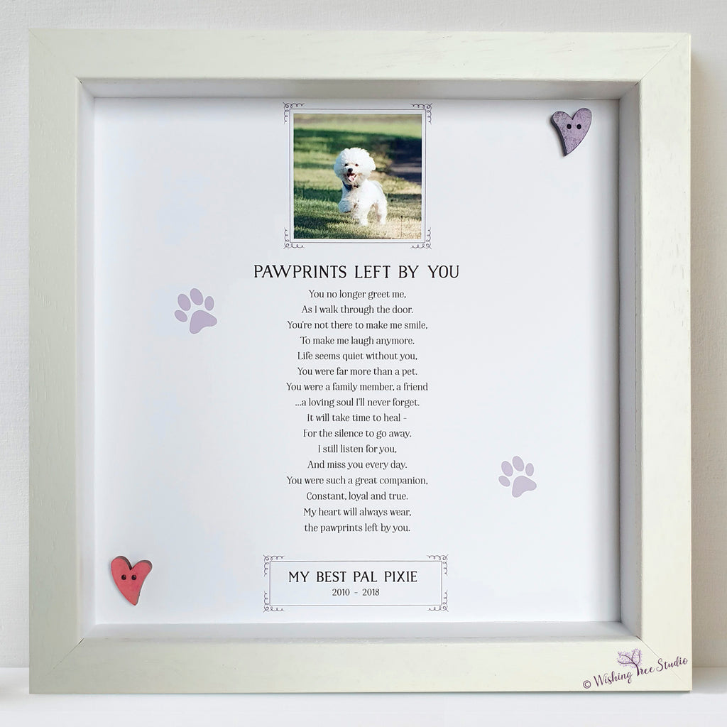 Pet memorial picture frame