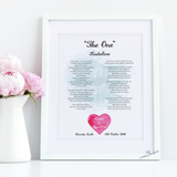 Personalised song lyrics or poem