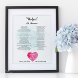 Song lyrics print - black frame