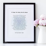 Framed poem, favourite poem printed