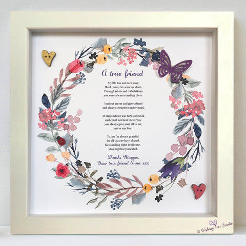 Floral Wreath frame with Poem