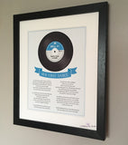 First Dance Lyrics framed - Our song frame