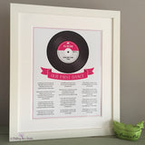 First Dance Lyrics framed - white frame