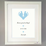 Infant loss footprints - blue