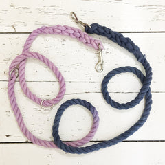 Lavender and Navy Convertible Leash- Wild Clementine Co.