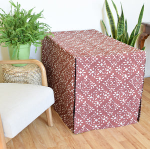 Crate Cover - Rusty Red Damask