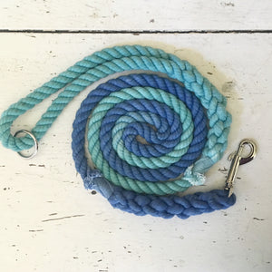 Ombre Dog Leash-Teal and Royal Blue