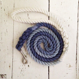 Ombre Dog Leash - Navy Blue