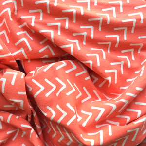 Coral herringbone crate cover for dogs