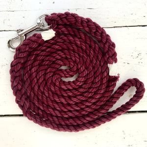 Downtown Pre-dyed Leash in Burgundy