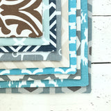 Teal Southwestern Pet Bowl Mat