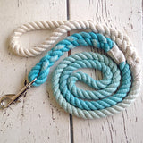 Ombre Dog Leash-Aquamarine Blue