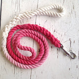 Ombre Dog Leash-Red/Dark Pink