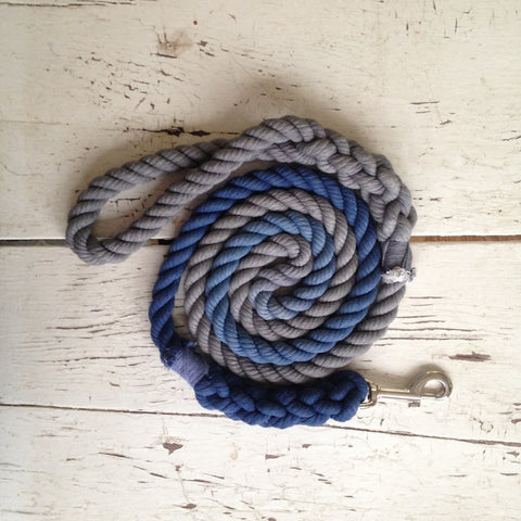 Ombre Dog Leash-Navy and Grey