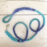 Ombre Dog Leash- Aqua, Teal, and Indigo