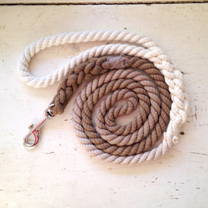 Ombre Dog Leash - Brown