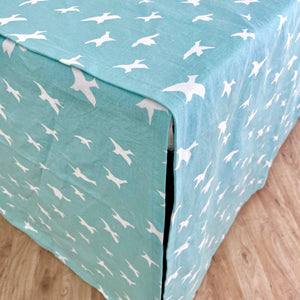 Crate Cover - Turquoise Birds