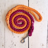 Ombre Dog Leash-Maroon and Orange