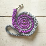 Ombre Dog Leash-Purple and Grey