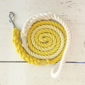Ombre Dog Leash-Yellow
