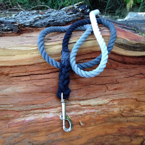 Ombre Dog Leash-Black/Grey