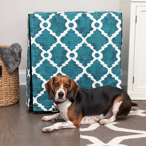 Teal crate cover for dogs